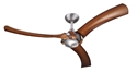 Picture of Brushed Aluminium Aeroforce 2 with 3 Polymer Koa Finished Blades( A3521, A3527) Hunter Pacific