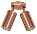 Picture of Wooyung 240V Solid Copper Double Spotlight (S123C) Seaside Lighting