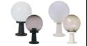 Picture of 240v Polymount 250mm Sphere & Pillar Mount Polycarbonate Garden Light Domus Lighting