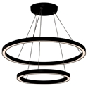 Picture of Black 800mm + 500mm Double Circa 65w LED Pendant (HCP-652130) Havit Commercial