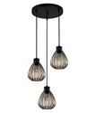 Picture of Black Smoke Wine Glass Ribbed Pendant (TULIP2X3R) CLA Lighting
